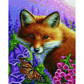 Лисица и бабочка Алмазная мозаика вышивка Painting Diamond