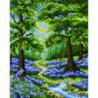 Тропинка на цветочной лужайке Алмазная мозаика вышивка Painting Diamond