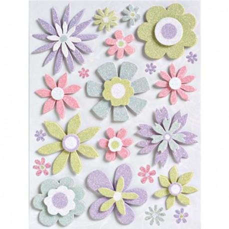 Цветы свадебные Стикеры для скрапбукинга K&Company