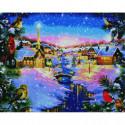 Звездная ночь на Рождество Алмазная мозаика вышивка Painting Diamond