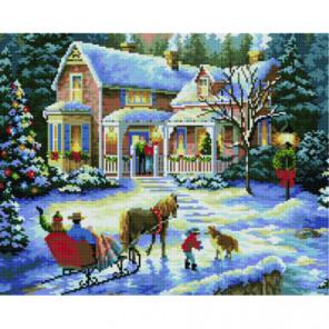 Сани на Рождество Алмазная мозаика вышивка Painting Diamond