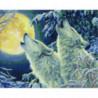 Волки в полнолуние Алмазная мозаика вышивка Painting Diamond