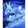 Одинокий волк Алмазная мозаика вышивка Painting Diamond
