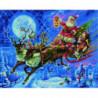 Дед Мороз в оленьей упряжке Алмазная мозаика вышивка Painting Diamond