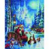 Дед Мороз и лесные звери Алмазная мозаика вышивка Painting Diamond
