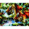 Тигры в джунглях Алмазная мозаика вышивка Painting Diamond