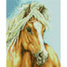 Конь с белой гривой Алмазная мозаика вышивка Painting Diamond