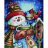 Снеговик с чашкой Алмазная мозаика вышивка Painting Diamond
