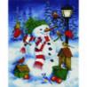 Снеговик и зимние птицы Алмазная мозаика вышивка Painting Diamond