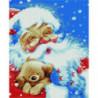 Дед Мороз и плюшевый мишка Алмазная мозаика вышивка Painting Diamond