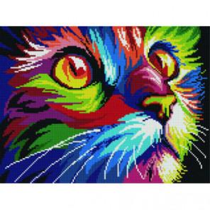 Радужный кот Алмазная мозаика вышивка Painting Diamond