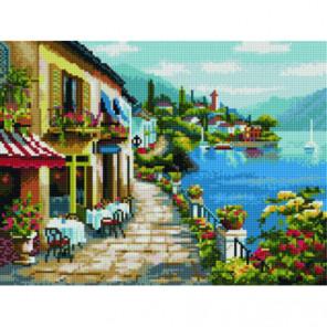 Прибрежное кафе Алмазная мозаика вышивка Painting Diamond