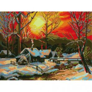 Закат ранней весны Алмазная мозаика вышивка Painting Diamond