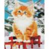 Рыжий котенок Алмазная мозаика вышивка Painting Diamond