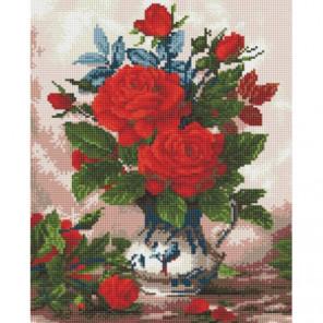 Розы в кувшине Алмазная мозаика вышивка Painting Diamond