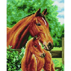 Лошадь и жеребёнок Алмазная мозаика вышивка Painting Diamond