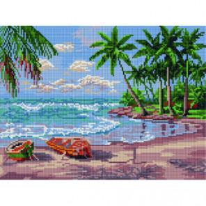 Пальмовый пляж Алмазная мозаика вышивка Painting Diamond