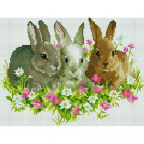 Кролики на лужайке Алмазная мозаика вышивка Painting Diamond