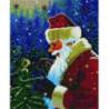 Дед Мороз и птичка Алмазная мозаика вышивка Painting Diamond