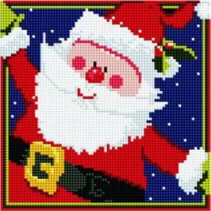 Весёлый Дед Мороз Алмазная мозаика вышивка Painting Diamond