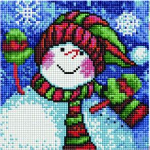 Весёлый снеговик Алмазная мозаика вышивка Painting Diamond