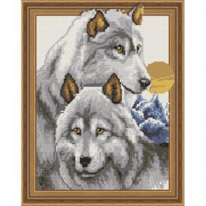 Волчья пара Алмазная мозаика вышивка Painting Diamond