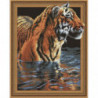 Тигр в воде Алмазная мозаика вышивка Painting Diamond