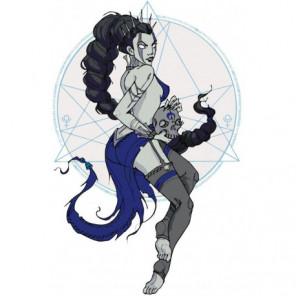 Знак зодиака скорпион женщина 60х80 Раскраска картина по номерам на холсте