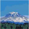 Горная вершина и лес 100х100 Раскраска картина по номерам на холсте