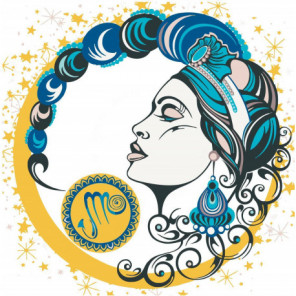 Девушка скорпион, знак зодиака 100х100 Раскраска картина по номерам на холсте