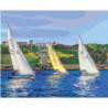 Парусная регата, яхты 80х100 Раскраска картина по номерам на холсте