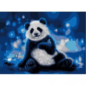 Ночной панда Раскраска картина по номерам на холсте