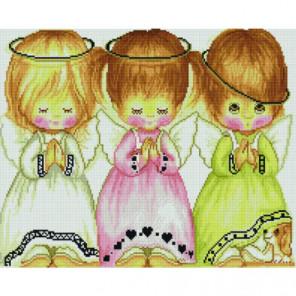 Три ангелочка Раinting Diamоnd Алмазная мозаика вышивка Painting Diamond