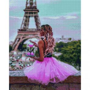 Цветок Парижа Раinting Diamоnd Алмазная мозаика вышивка Painting Diamond