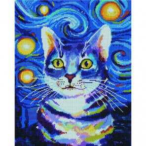 Красочный кот Раinting Diamоnd Алмазная мозаика вышивка Painting Diamond