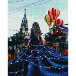 Праздничная Москва Раinting Diamоnd Алмазная мозаика вышивка Painting Diamond
