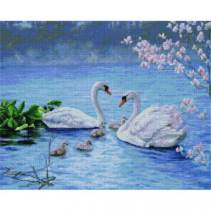 Лебединая семья Алмазная мозаика вышивка Painting Diamond