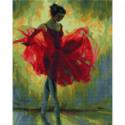 Балерина в красном Алмазная мозаика вышивка Painting Diamond