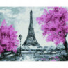 Розовый Париж Раinting Diamоnd Алмазная мозаика вышивка Painting Diamond