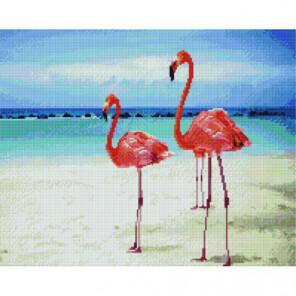 Фламинго на пляже Раinting Diamоnd Алмазная мозаика вышивка Painting Diamond