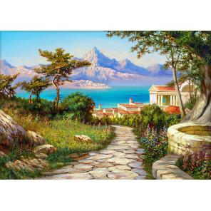 Город у моря Алмазная вышивка мозаика АЖ-1816