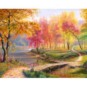 Осень в старом парке Алмазная вышивка мозаика АЖ-1822