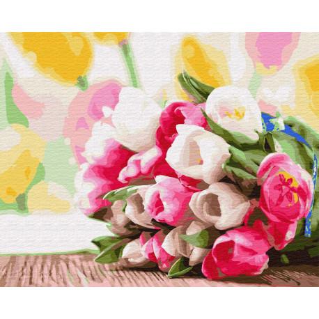 Букет на праздник весны Раскраска картина по номерам на ...