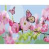 Розовые бабочки Раскраска картина по номерам на холсте