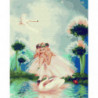 Девочка и лебеди Раскраска картина по номерам на холсте