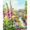 Цветочная арка Раскраска картина по номерам на холсте