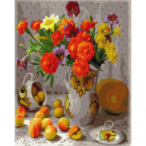 Осенний натюрморт Раскраска картина по номерам на холсте