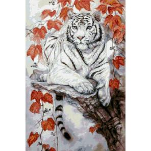 Восточный тигр Алмазная мозаика вышивка Паутинка М-372