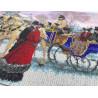 Фрагмент вышитой работы Зимняя прогулка Набор для частичной вышивки бисером Паутинка Б-1489