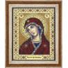 Пример оформления иконы в рамку 387-181 Рамка со стеклом для иконы и вышивки
